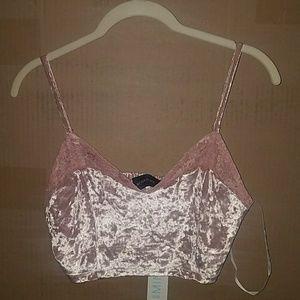 b12bccb22e864 Mink pink crush on you velvet bustier L crop top
